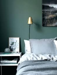 green bedroom walls dark moody painted lime wallpaper grey and green bedroom