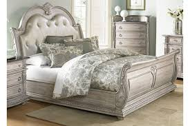 upholstered leather sleigh bed. Palace II Queen Size Upholstered Sleigh Bed Leather