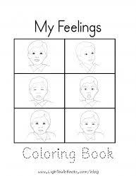 Small Picture Feelings For Kids Coloring Page Free Download