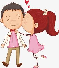 Cute Little Couple Cartoon Lovely Lovers PNG And Vector For Free Amazing Little Couple Photo Download