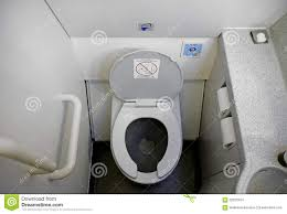 Airplane Bathroom Toilet stock photo. Image of commercial - 62323424