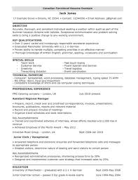 How To Write Canadian Resume Functional Example For Employers The
