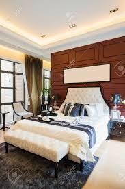 Luxuriöses Komfortables Schlafzimmer Mit Schöner Dekoration