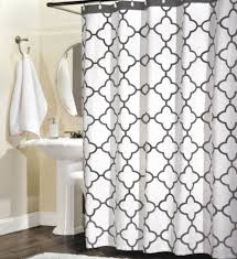 100 percent cotton shower curtain moroccan tile quatrefoil gray and white lattice 72 inch by 72 inch in on alibaba com