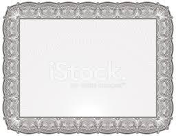 Certificado O Diploma En Blanco Stock Vector Freeimages Com