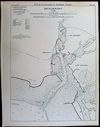 Tide Chart Bridgeport Ct Amazon Com Bridgeport Connecticut Long Island Sound 1901