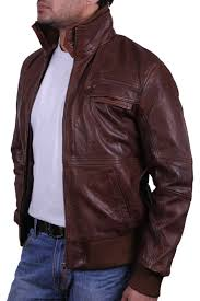 men s brown leather er jacket falcon jpg