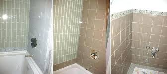waterfall tile in shower ceramic tile shower wall and what a difference a tile makes our smoky waterfall glass tile is removing ceramic tile shower walls