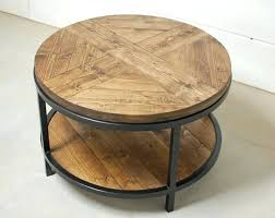 round wood coffee table rustic industrial round wood coffee table two tier table wood furniture rustic
