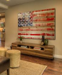 large wooden american flag wall art