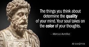 Marcus Aurelius Quotes Amazing Marcus Aurelius Quote The Things You Think About Determine The