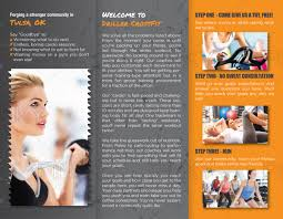 Personable Feminine Fitness Brochure Design For Driller Crossfit