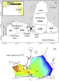 A Map Of Mobile Bay And Eastern Mississippi Sound A And