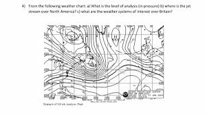 Stream Analysis Chart Solved 4 From The Following Weather Chart A What Is Th