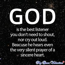 Beautiful Quotes On God Best of God Is The Best Listener Picture Quotes Mydearvalentine