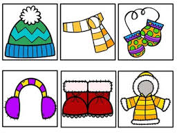 Snow Clothes A Winter Pocket Chart Song