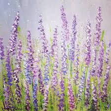 lavender field acrylic painting tutorial on you by angela anderson purple lavender acrylicpaint