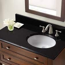 37 In X 22 In Black Granite Right Offset Basin Vanity Top 8 In Spread Cahaba Designs
