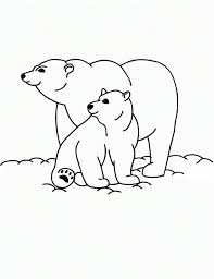 Small Picture Get This Simple Polar Bear Coloring Pages to Print for