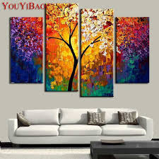 large canvas prints elegant handpainted oil painting palette knife paintings for