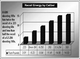 Recoil Comparison 223 Rem Vs 6mmbr Vs 308 Win Daily