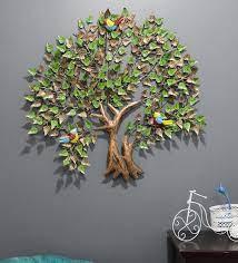 metal tree wall art in multicolour