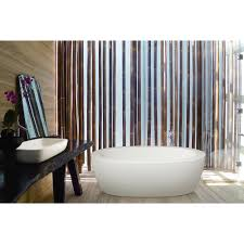 this strikingly modern purescape 174 design is perfectly complimented by its space saving upscale aquatica purescape 174a freestanding acrylic bathtub