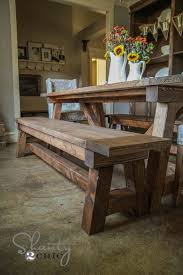 Dining room table bench Solid Wood An Option For My New Table And Chairs Pinterest Diy 40 Bench For The Dining Table home Pinterest Farmhouse