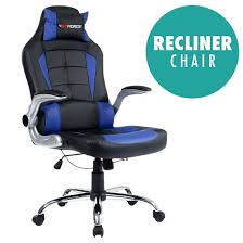 office recliner chairs. GTFORCE BLAZE RECLINING LEATHER SPORTS RACING OFFICE DESK CHAIR GAMING COMPUTER (Blue): Amazon.co.uk: Kitchen \u0026 Home Office Recliner Chairs N