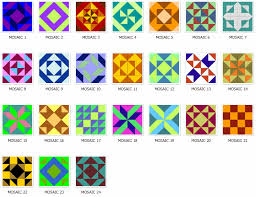quilt block idea to make with paint chips | paint chips ... & Lots of interesting quilting block ideas on this site including mosaic ones. Adamdwight.com