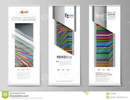 Flyers Flag Roll Up Banner Stands Abstract Style Templates Corporate