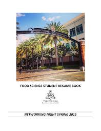 Food Science Resume Book Network Night 2015 By Sonja Montiel Issuu