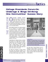 Forum amp; Underage One Drinking Success Binge Presidents College Story Community's On
