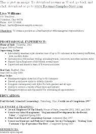Salon Resume Examples Creative Ideas Salon Manager Resume Resume