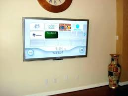 hide wires behind tv hide wires hang on wall no mounted home depot how to behind