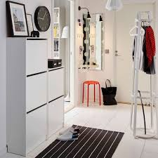 ikea hallway furniture. a white hallway with shoe cabinets on the wall combined hatcoat stand ikea furniture