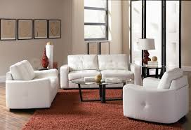White Leather Living Room Furniture Furniture Spectacular Leather Couch Living Room Black Wall Clock