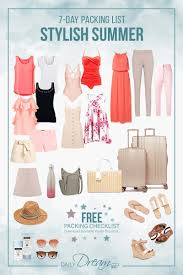 7 Day Stylish Summer Packing List With Free Download