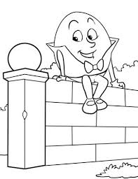Humpty Dumpty Coloring Page With Humpty Dumpty Song Preschool