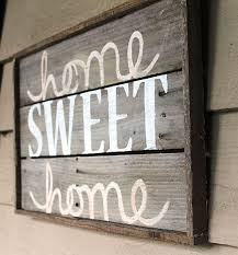 framed lumber home sweet home wall hanging