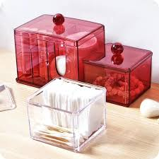 how to make a makeup organizer box acrylic makeup organizer with lid clear cotton swabs holder