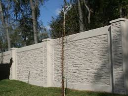 concrete fence design.  Concrete Concrete Fence Stylish Design House Protection On Concrete Fence Design N