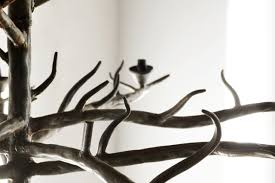 Branch Chandelier Sold Handmade Tree Branch Chandelier Steel Rehab Vintage