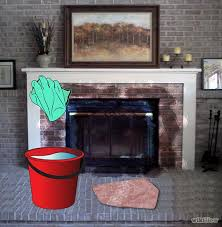 Cleaning Brick Fireplace Front 5 How To Clean A With Scrubbing Cleaning Brick Fireplace Front