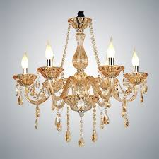 gorgeous pure crystal six lights candle shaped light living room crystal chandelier light