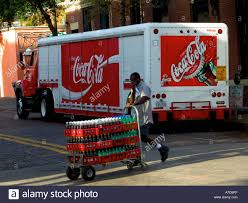 Delivery Truck Driver Making Soda Delivery Stock Photo 6744958 Alamy