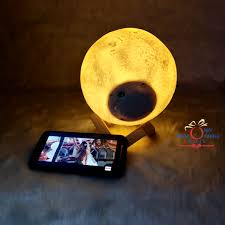 Moon Lamp With Bluetooth Speaker