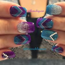 Purple And Teal Nail Designs Camila Location Lutz Fl Thenailsqueen Instagram