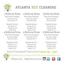 Domestic Cleaning Price List House Cleaning Prices Atlanta Eco Cleaners Premier House