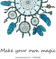 Design Your Own Dream Catcher Boho Style Background Native American Indian Stock Vector 72
